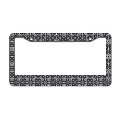 - DKISEE Abstract Batik Pattern 7 License Plate Frame Aluminum Car License Plate Covers with 2 Holes 12