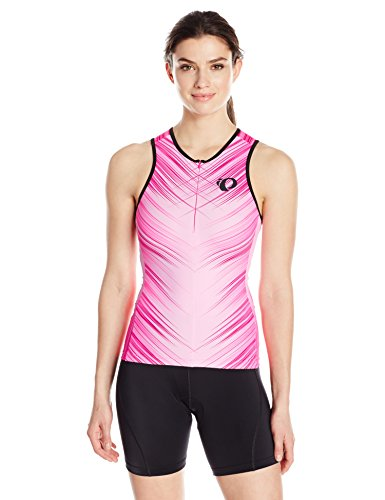 Pearl iZUMi Women's Elite Inrcool Limited Tri Single, Crystalize Screaming Pink, - Top Womens Tri