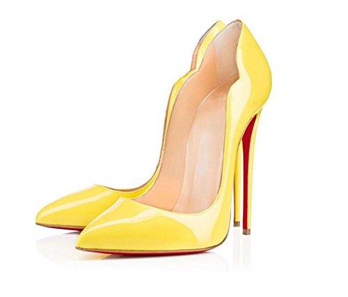 Cuir Chaussures de de Rue en de Forme Pointé Hauts Peinture de Bouche Talons Travail Femmes à de en V xie aigu de Chaussures Rue zUqv0Yxw