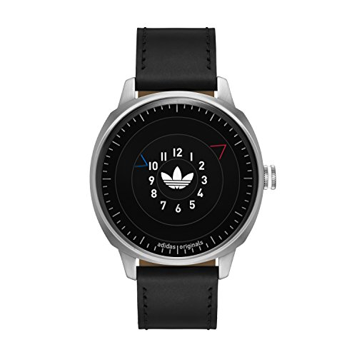 adidas Men's 'San Fransico' Quartz Stainless Steel and Leather Casual Watch, Color:Black (Model: ADH3126)
