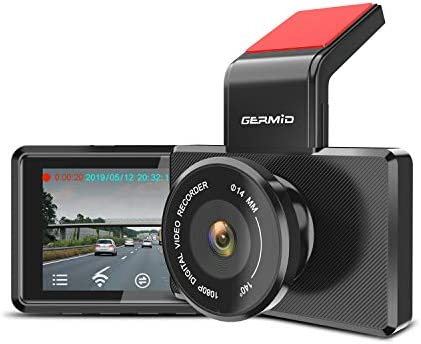 GERMID S3 High Definition WiFi Dash cam for Automobile, Driving Loop Recording, Parking Monitor, G-Sensor, Night Vision, Sony Sensor, Supercapacitor, Phone App, OBD