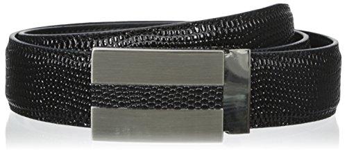 Stacy Adams Men's 32 mm Lizard Print Genuine Leather Belt, Black, 36