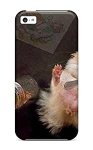 Flexible Tpu Back Case Cover For Iphone 5c - Filled To The Brim Hamster by Maris's Diary