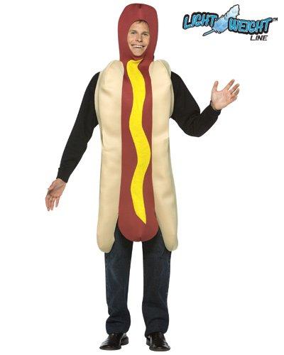 Rasta Imposta Lightweight Hot Dog Costume, Multi-Colored, One Size