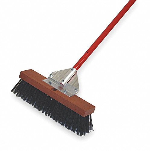 Metal Push Broom, 16'' Sweep Face by Tough Guy