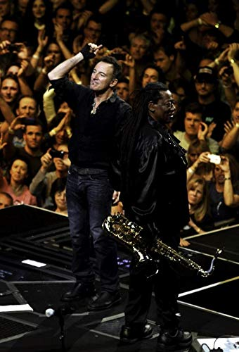 Bruce Springsteen and Clarence Clemons on stage at Madison Square Garden Photo Print (8 x 10)