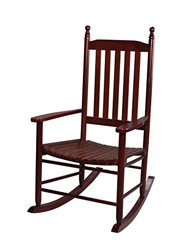 Gift Mark Adult Tall Back Rocking Chair, Cherry by Gift Mark