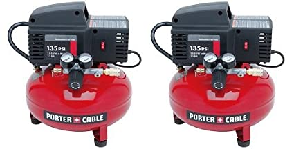 Amazon.com: PORTER-CABLE PCFP02003 3.5-Gallon 135 PSI Pancake Compressor (2-(Pack)): Home Improvement