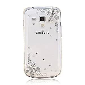 2013 Hot New Samsung Galaxy S4 I9500 Case Crystal Rhinestone Five Leafs Grass Flower Tower Transparent Case