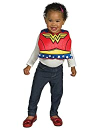 Rubie's Costume Co. Baby Dc Comics Wonder Woman Bib with Removable Cape, As Shown, One Size