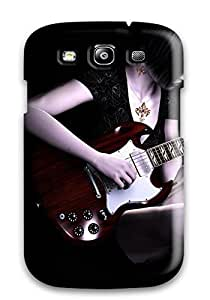 Galaxy S3 Case Cover - Slim Fit Tpu Protector Shock Absorbent Case (guitar)
