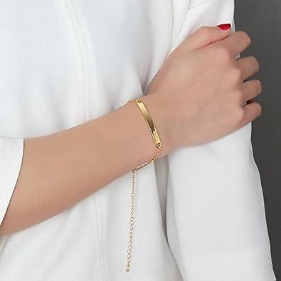 VNOX Medical Alert Jewelry-Minimalism 4.6MM Stainless Steel Plain Link Heart Shape Clasp Adjustable Bar Bracelet