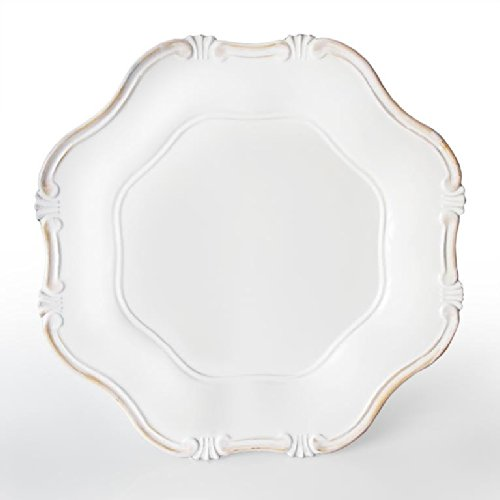 Charge It by Jay Charger Plate, White Baroque