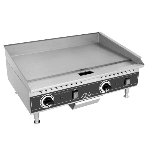 Table Top king PG36E 36'' Electric Countertop Griddle - 5400W - Restaurant Equipment by Globe