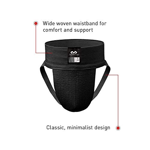 McDavid 3110 Classic Two Pack Athletic Supporter, Black, Small