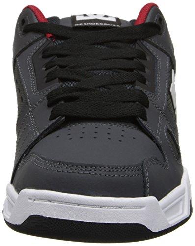 Dc Heren Herten Sneaker Grijs / Rood