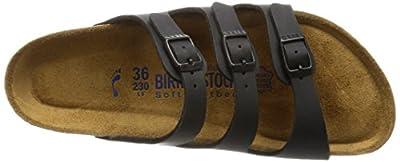 Birkenstock Women's Florida Soft Footbed Birko-Flor Black Sandals - 43 (étroit)