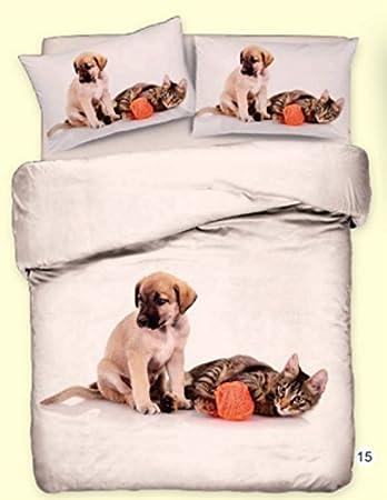 Smartsupershop Oferta: Funda nórdica Individual Amigos Animales Coccole Perro & Gato giocherelloni - Idea Regalo - Animales Perros & Gatos Perro Gato ...