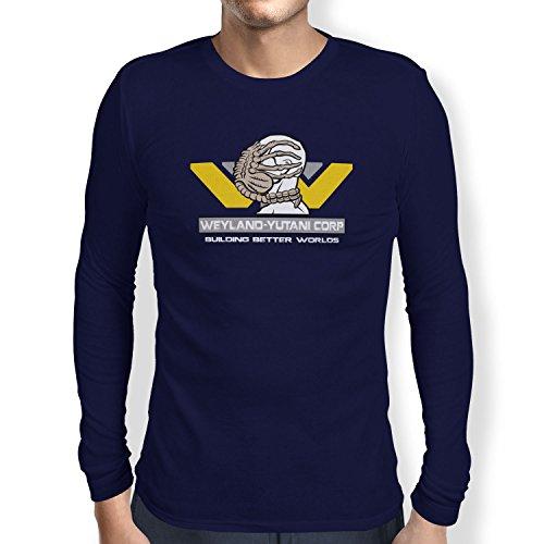 TEXLAB - Weyland Yutani Facehugger - Herren Langarm T-Shirt, Größe XXL, navy