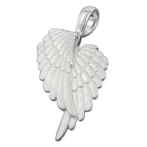 Joyería Colgantes Alas de ángel mate plata 925 dimensiones 38 x 19mm