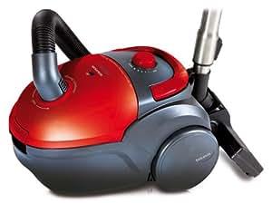 Taurus - Aspirador Micra1800Compact, 1800W, Bolsa 2L, 300W De Succion, Filtro Hepa, Regulador Electronico De Potencia. Rojo.