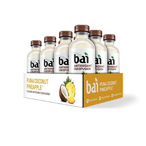 Pineapple Water (Bai Coconut Flavored Water, Puna Coconut Pineapple, Antioxidant Infused Drinks, 18 Fluid Ounce Bottles, 12 count)
