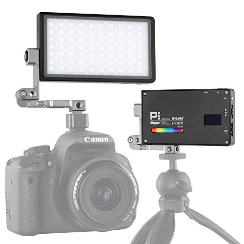 BOLING BL-P1 RGB LED Full Color Light Camera/Camcorder Video Light Panel Portable Pocket Size Creative 9 Applicable Situation, 360° Adjustable Support System, 2930mAh Battery Rechargeable 12W