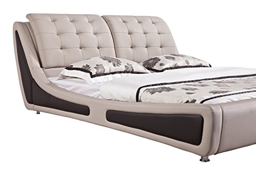 home, kitchen, furniture, bedroom furniture, beds, frames, bases,  beds 9 picture US Pride Furniture Victoria Leather Contemporary Platform Bed in USA