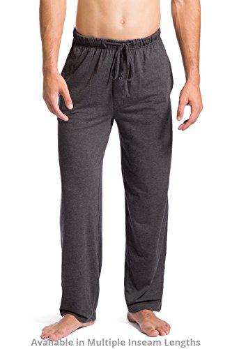 Fishers Finery Mens Ecofabric Jersey Pajama Pant; Lounge Pant HTHR Gry, XL-Short