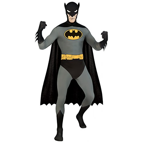 Superhero 2nd Skin Full Body Suit Costume - Large - Chest Size 46 (Batman 2nd Skin Costume)