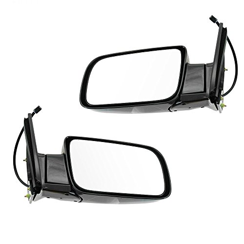 (Hex Autoparts® Power Folding Side View Mirrors Pair Set for Chevy GMC C1500 K1500 Yukon Pickup Truck SUV)