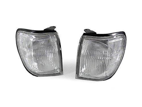 DEPO 1999-2004 Nissan Pathfinder LE SE XE Clear Corner Signal Light Set -
