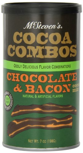 McSteven's Cocoa Combos Chocolate and Bacon Drink Mix, 7-Ounce Cans (Pack of 3)