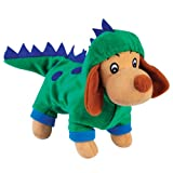 Zanies Plush Halloween Hounds Dog Toy with Squeaker, Dogzilla Dinosaur, My Pet Supplies