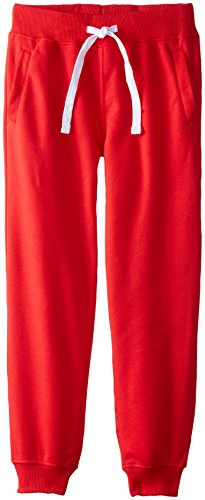 (Southpole Boys' Big Active Basic Jogger Fleece Pants, Red, Large / 14-16)