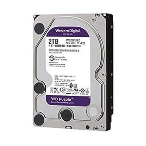 """WD Purple 2TB Surveillance Hard Drive - 5400 RPM Class, SATA 6 Gb/s, 64 MB Cache, 3.5"""" - WD20PURZ"""