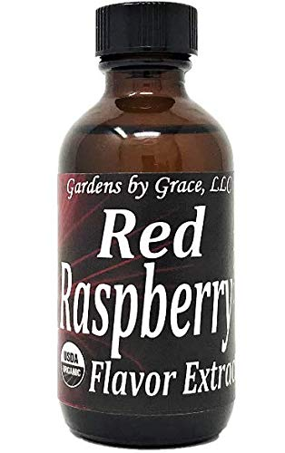 Organic Flavor Extract Raspberry | Use in Gourmet Snacks Candy Beverages Baking Ice Cream Frosting Syrup and More | GMOFree Vegan GlutenFree 2 oz