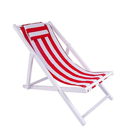 ZLJTYN Folding Sun Lounger Beach Chair, Folding Chair, Solid Wood Recliner, Canvas Chair, Lunch Break Chair, Chair, Outdoor Portable Chair, Accompanying Chair Lazy Chair, A, 2 PACK