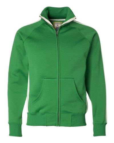 J. America Men'S Vintage Poly Fleece Track Jacket (Kelly)...