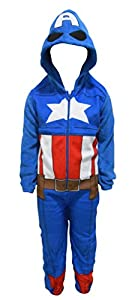 Marvel Avengers Captain America Boy's All in One Sleepsuit Pajamas