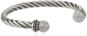 """Sterling Silver Twisted Cuff Bracelet, 6"""" by Amazon Curated Collection"""