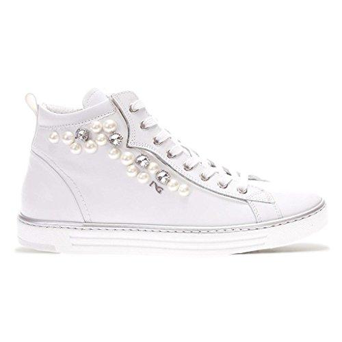 Nero Giardini Damen Niedrige Sneaker Bianco