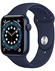 AppleWatch Series6 (GPS, 44-mm) kast van blauw aluminium - Donkermarineblauw sportbandje