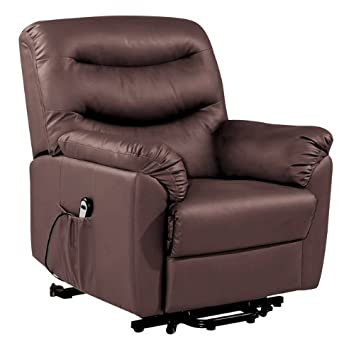 Birlea Regency Rise And Recline Chair   Faux Leather, Motorised, Brown