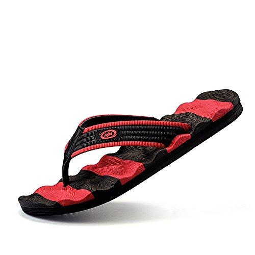 color Tamaño Juans Hombres Chancletas shoes Hombre black Masaje Red Correa Gran Clásicas Disponibles Red 47eu Para Slipper De Casual Los La Size black Zapatos qFZqrPwT