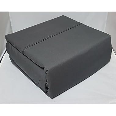 Organic Cotton Sheet Set - 600 Thread Count - 100% Cotton 4pc Bed Sheet Set - (Queen, Slate Grey)