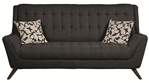 Coaster Home Furnishings 503774 Casual Sofa, Black/Black