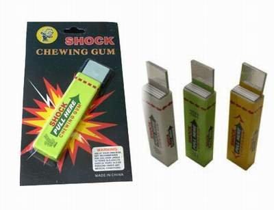 YMCtoys Shocking Gum, Funny Shock Gag (1 Pack Random Color -