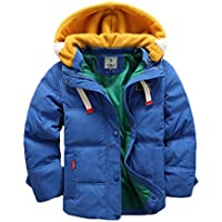 Valentina Kids Winter Latest Thicken Hooded Jacket Warm Quilted Coat Casual Outdoor Cool Cute for Boys Girls Autumn Spring