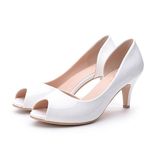 Tacón Cómodo Estudiantes De Conjunto Pie Sandalias Alto Mujer Verano HXVU56546 El De White Nuevo Zapatos Dulce De XvURY